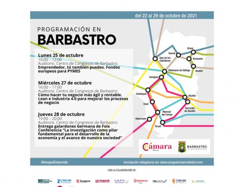 Semana del emprendimiento en Aragón. Jornadas en Barbastro